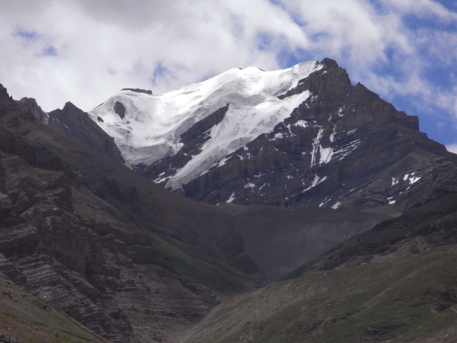 グンリ寺付近の氷河