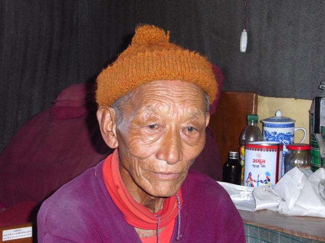 チベットから亡命してきた修行者
