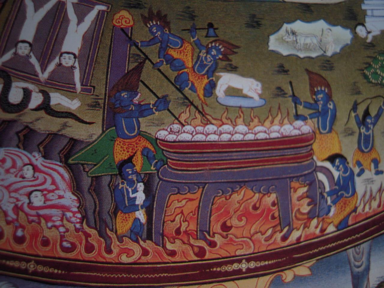 六道輪廻の中の地獄図