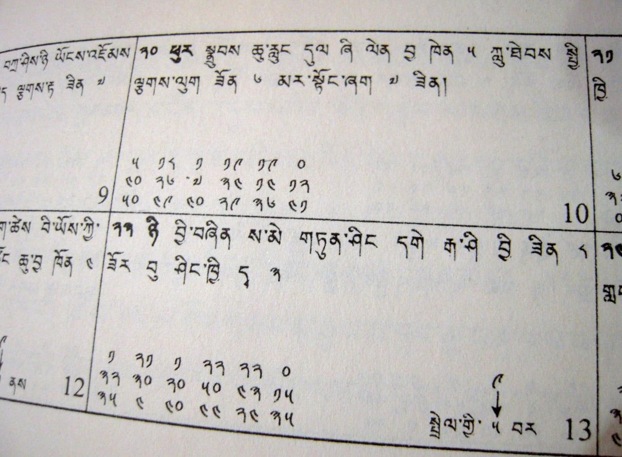チベットの暦