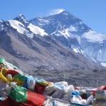 ロンブク・ゴンパから望む世界最高峰