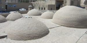 ブハラのバザールタキの屋根はユニークな形