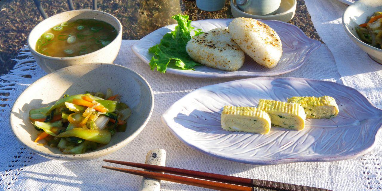 地元の野菜を使った「はなのいえ」の朝食