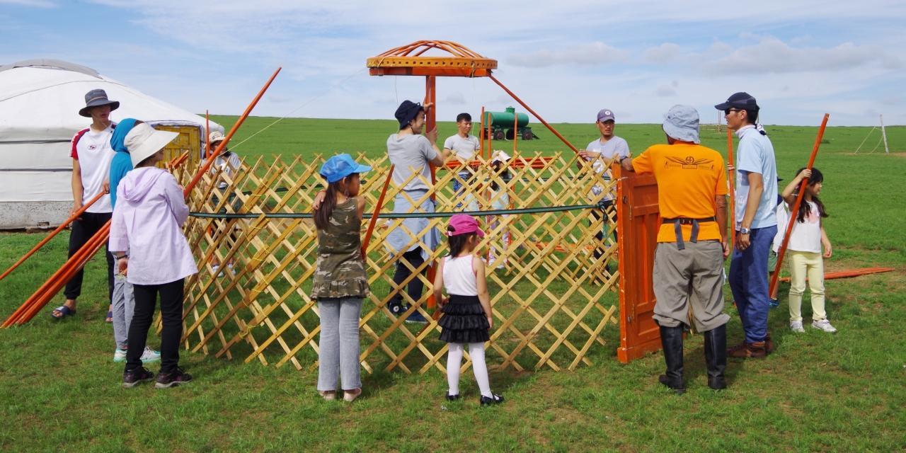 遊牧民の移動式住居「ゲル」作り(ミニサイズ版)