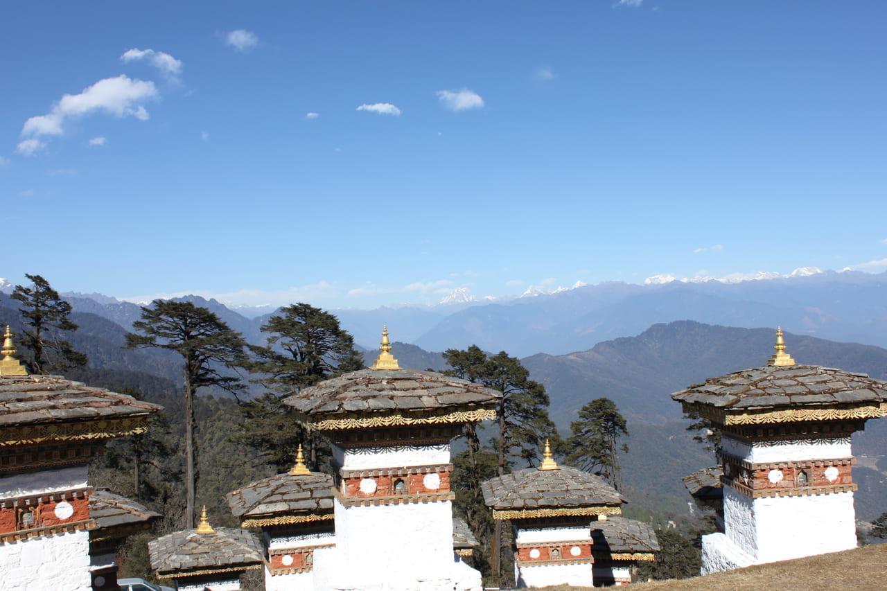 ドチュラ峠からのブータンヒマラヤ