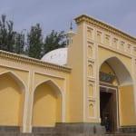 新疆最大のイスラム寺院エイティガール(カシュガル)は旧市街のはずれにある