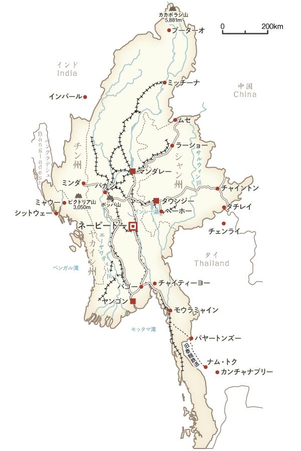 地図 ミャンマー