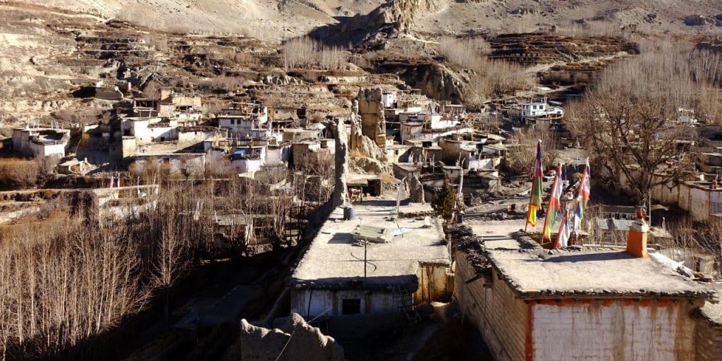 ムクティナート付近のチベット系集落