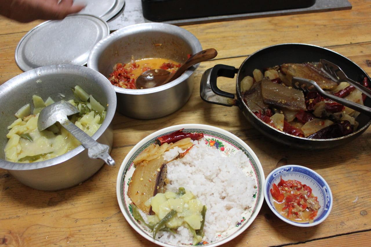 ブータンの家庭料理