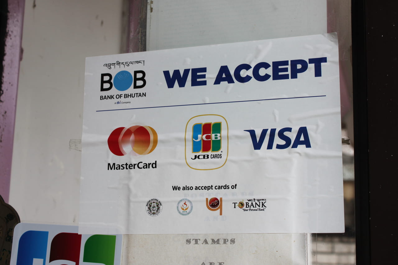 最近はカードが使えるお店が増えました