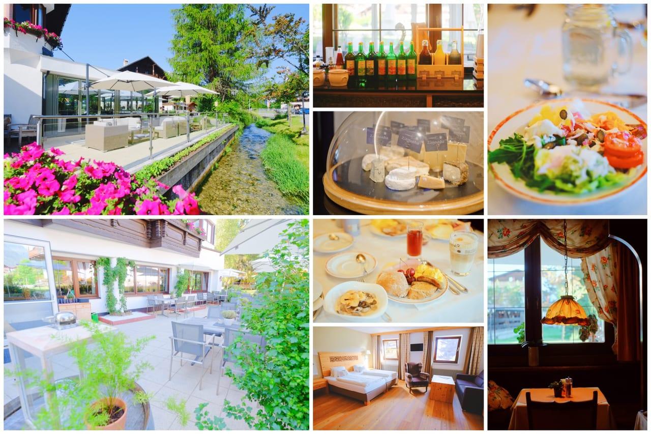 (木の香りがほのかに香る木造の内装とオーガニックの野菜ビュッフェが嬉しいビオホテル。お部屋も広々と寛げました)
