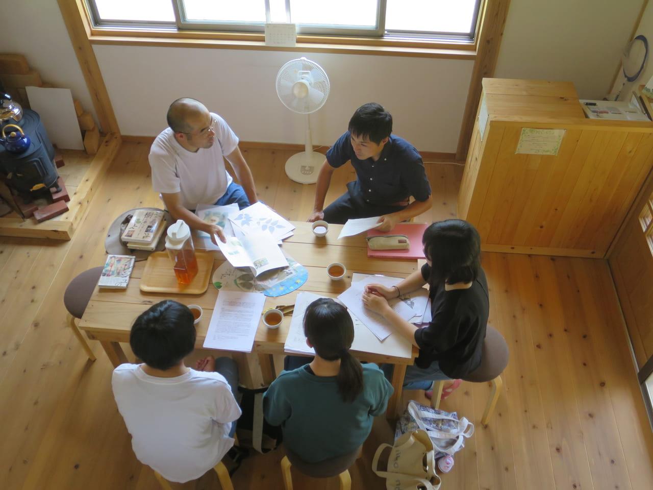 飯山高校生 森のくすり塾で座学