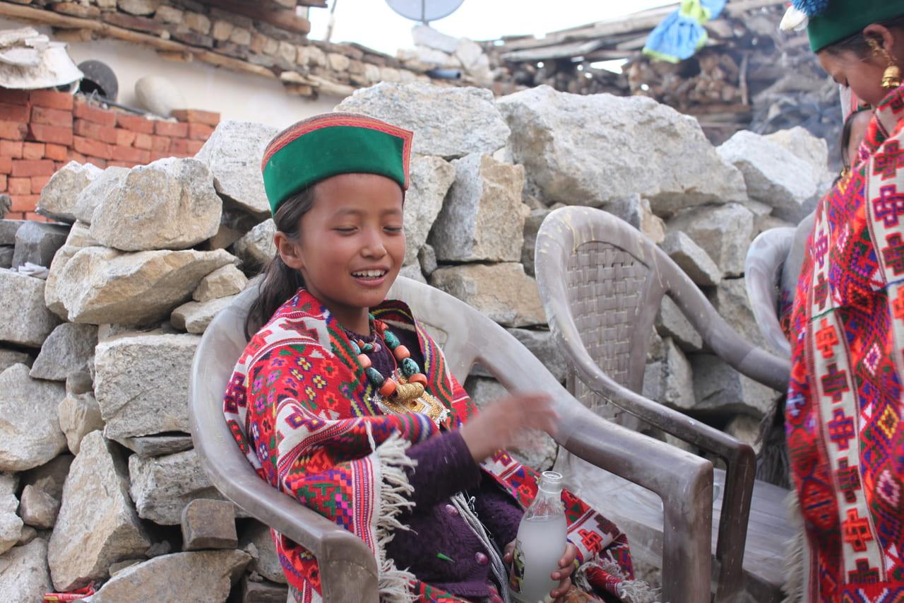 ナコ村のキナウリの少女