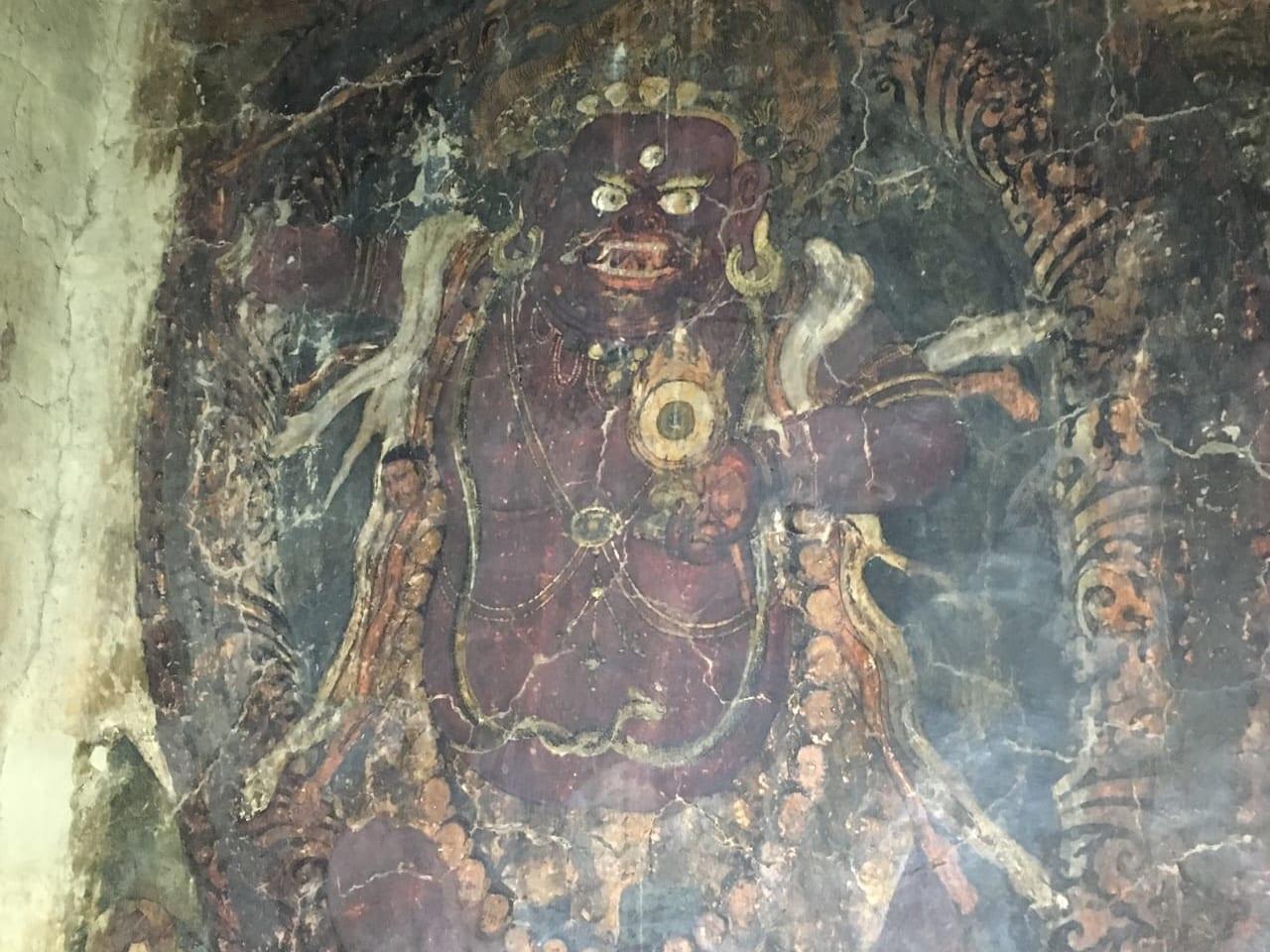 クングリ・ゴンパに残された古い壁画