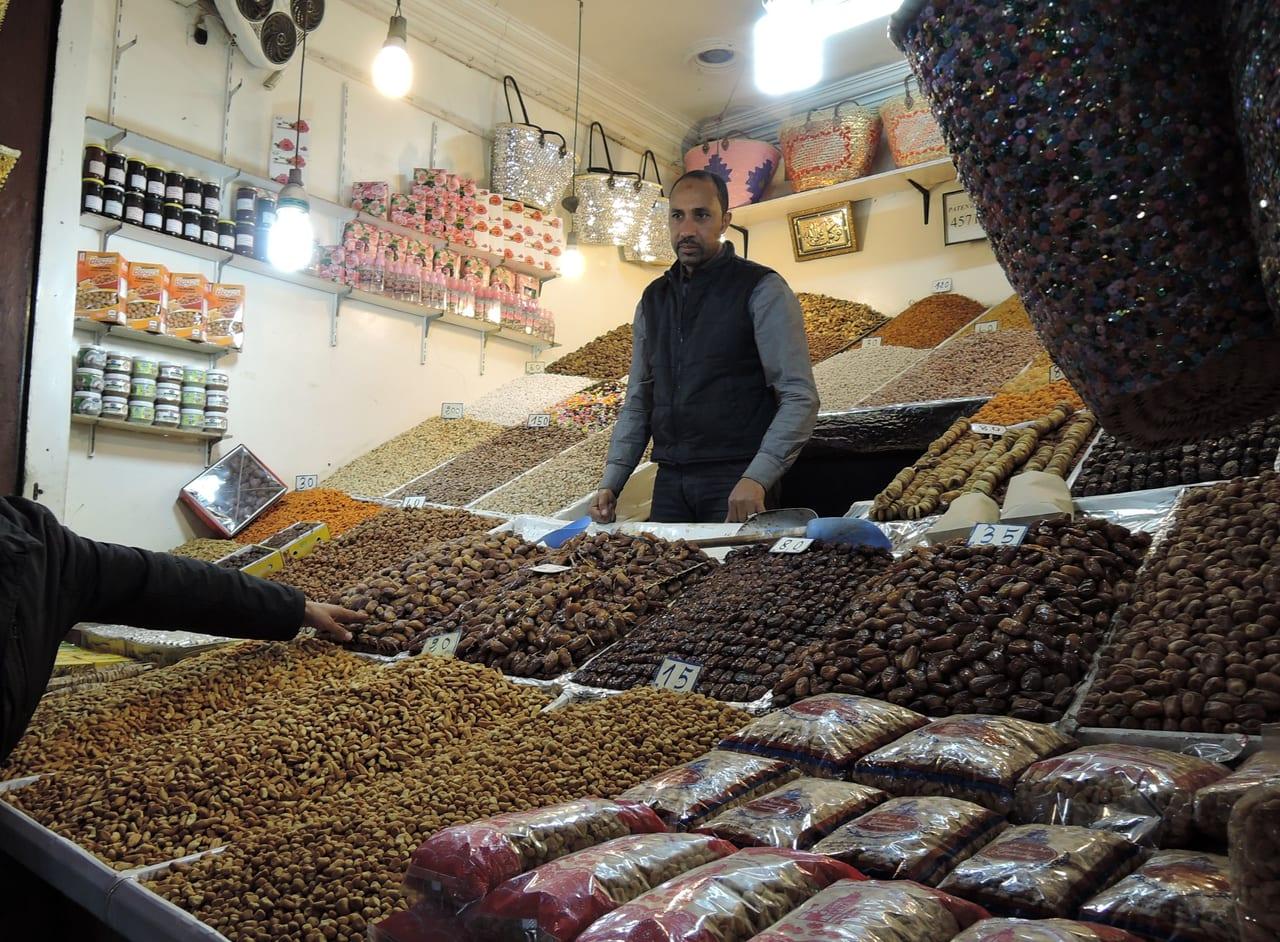 スークのドライフルーツやさん(モロッコ・マラケシュ)
