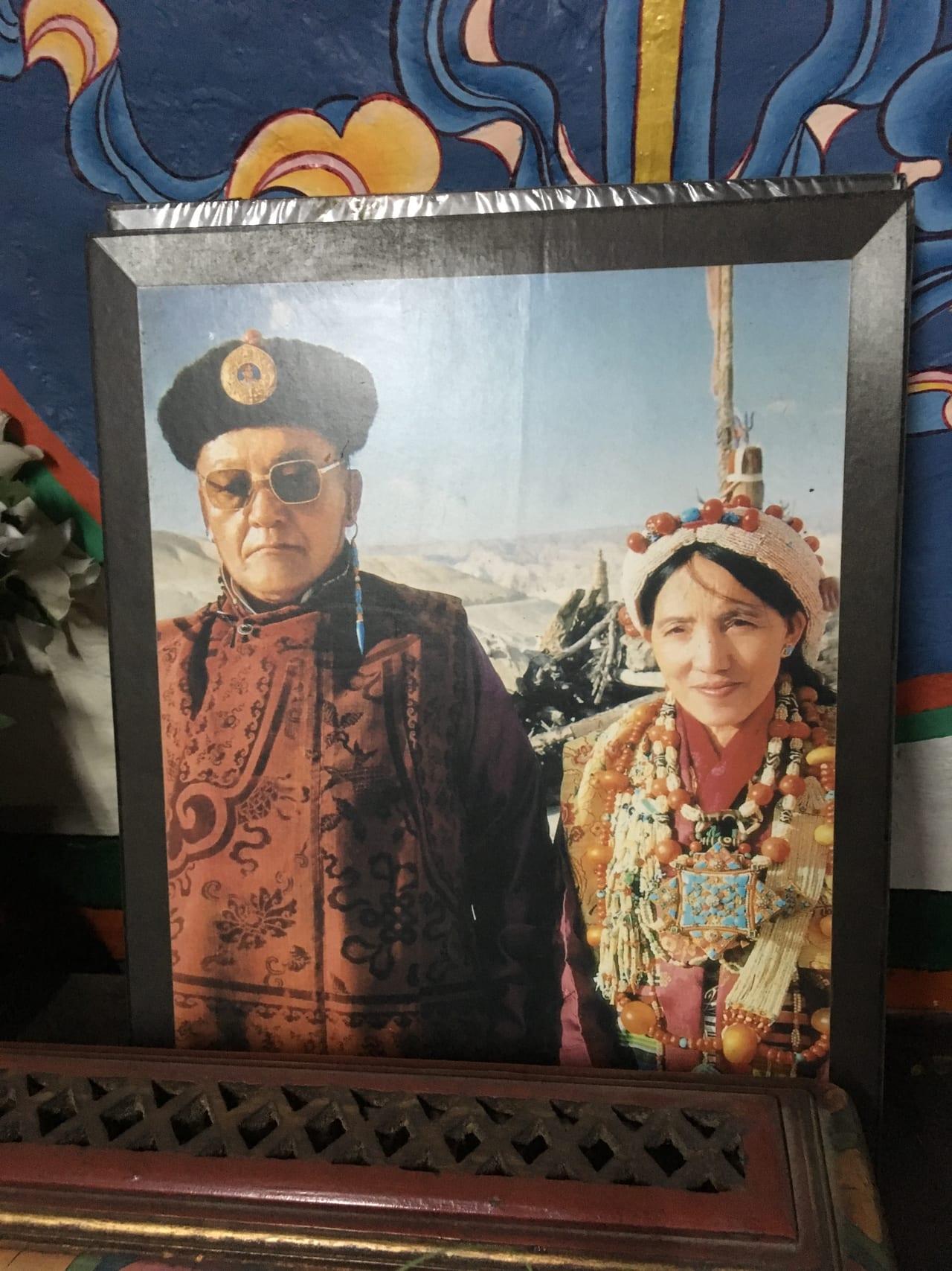 「最後の国王」ジグメパルバル・ビスタと王妃
