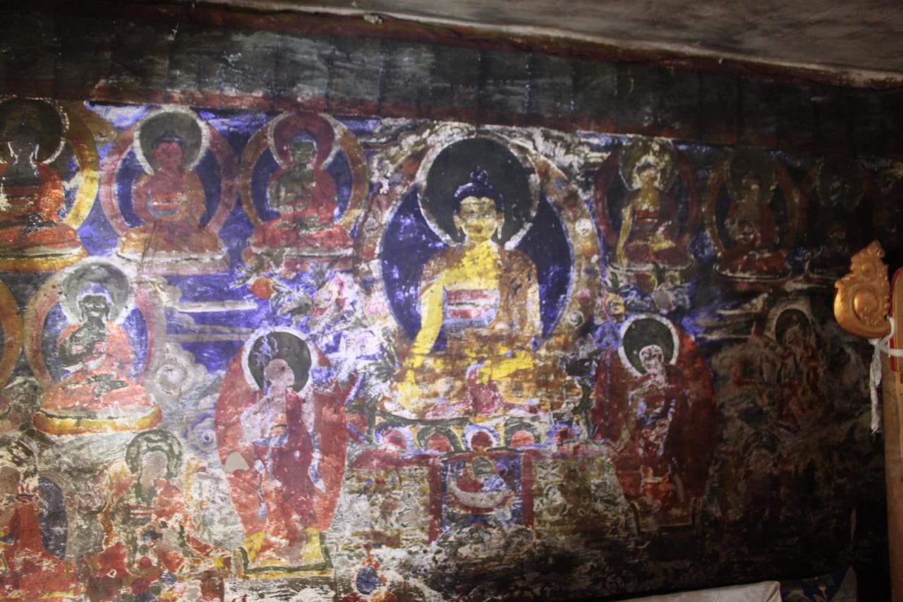 ニプ・ゴンパの古い壁画