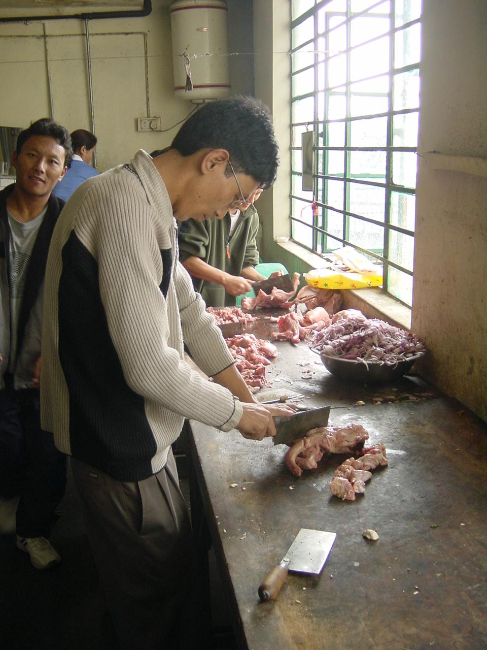 ひき肉作り