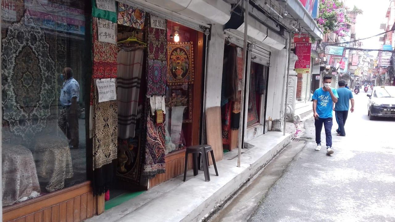 タメル地区の商店