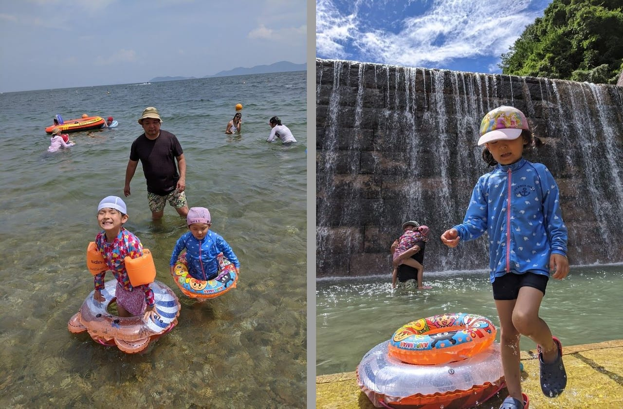 琵琶湖湖と近くの川で水遊びを満喫!