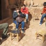 アイトベンハッドゥ(モロッコ)にて、ミントティータイム