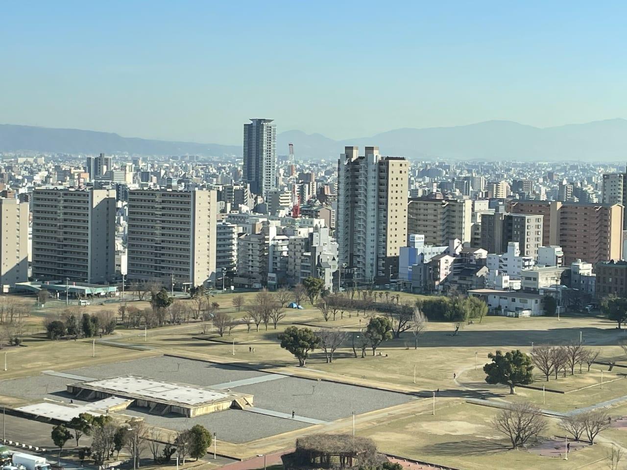 都会の中にある難波宮跡(大阪歴史博物館より)